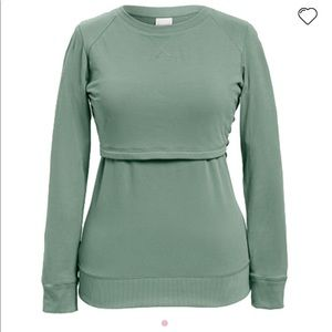 Boob B. warmer sweatshirt aqua blue green